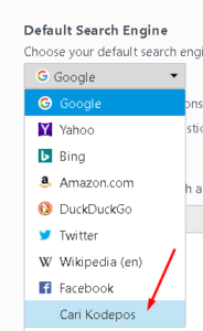 Change Default Search Engine Mozilla