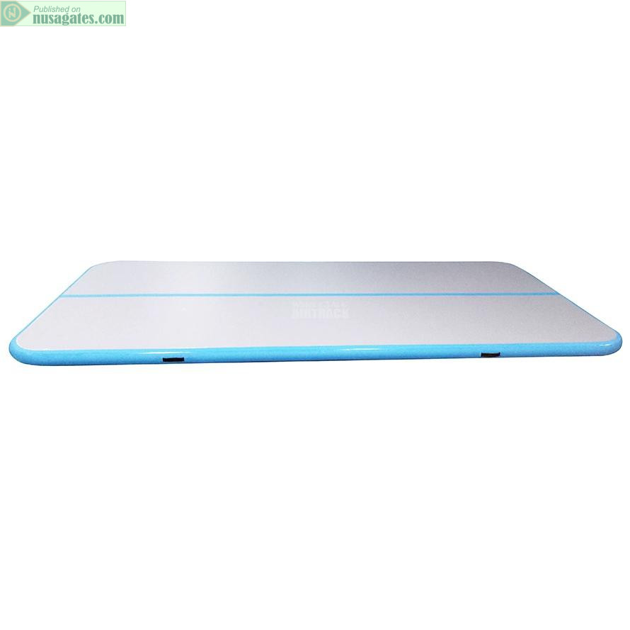 Gray surface blue side inflatable tumble track design, amazing inflatable gymnastics mat (1)
